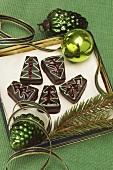 Weihnachtliches Schokoladengebäck