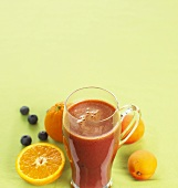 Fresh fruit juice (apricot, orange, blueberry)