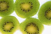 Frozen kiwi fruit slices