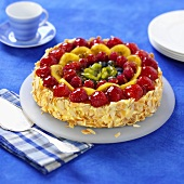 Mixed fruit gateau