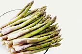 Green asparagus stalks