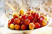 Sweet cherries in a bowl