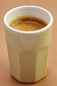 Espresso in unusual espresso cup