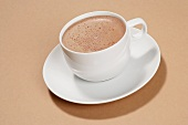 Hot chocolate in a cup