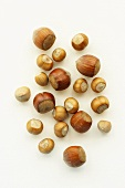 Two different types of hazelnuts
