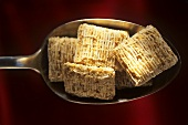 Spoonful of Shredded Wheat Cereal