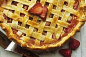 Strawberry Rhubarb Pie; From Above