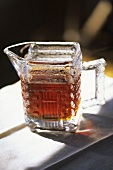 Maple Syrup in a Glass Pitcher