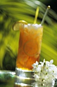 Tropical Cocktail and Flowers