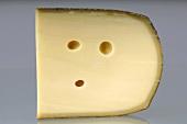 A piece of Bergkäse cheese