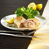 Turkey rolls with ham and cheese