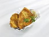 Two Wiener Schnitzel (veal escalopes)