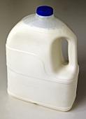 Milk in a plastic bottle