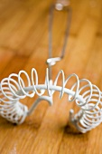 A spiral whisk, used