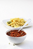 Macaroni with vegetarian Bolognese