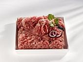 Minced pork in a dish