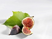 A fig, cut into pieces