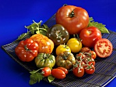 Various types of tomatoes in a bowl