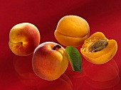 Three whole and one half apricot