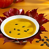 Styrian pumpkin soup with pumpkin seeds