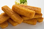 Fish fingers in a heap