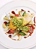 Guinea-fowl with Mediterranean vegetables
