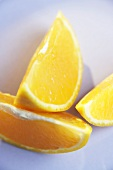 Three orange wedges