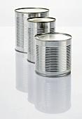 Three food tins