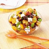Mediterranean potato salad with olives and feta