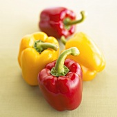 Two red and two yellow peppers