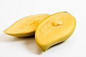 A halved Thai mango
