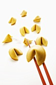 Chinese fortune cookies and chopsticks