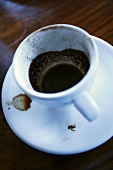 Coffee dregs in a cup