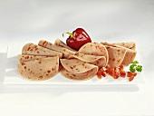 Sliced Paprikawurst (pepper sausage)