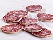Italian salami, sliced