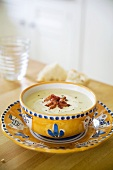 Fennel soup with bacon