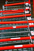 Several shopping trolleys