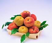 Eine Steige voll Pfirsich