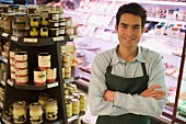 Sales assistant in supermarket