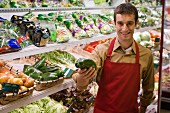 Supermarket sales assistant in the vegetable department