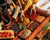 Spices in a letter case