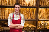 Shop assistant in bakery
