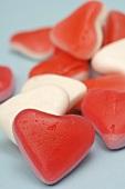 Heart-shaped wine gums