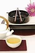 Asian place-setting with tea