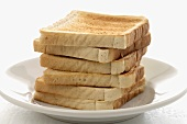 Slices of toast on a plate