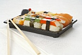 Sushi bento box to take away