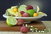 Plate of exotic fruit