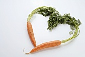 Carrots forming a heart