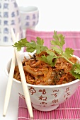 Vegetable dish with fresh coriander (Asia)