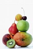 Pyramid of fresh fruit
